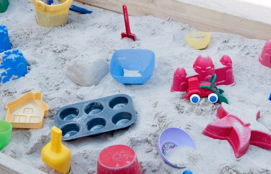 Well equipped sand boxes to stimulate creative minds
