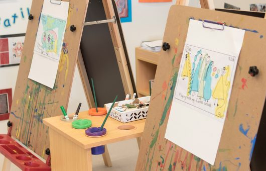 Easels encourage early artistic expression