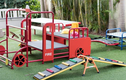 Outdoor areas for role-play and fun